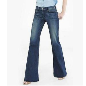 Express NWOT Wide Leg Flare Mid Rise Jean 6